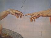 Die Erschaffung Adams, Detail, Michelangelo